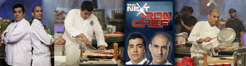 "Monica DiNatale ""The Next Iron Chef"" Interview with Jose Garces and Jehangir Mehta"